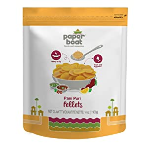 Paper Boat Pani Puri Pellets, Wheat Crisps, Ready to Fry, Source of Fibre, Indian Snack, Vegan, No Added Sugar, No Preservatives, No Added Colors, 14oz
