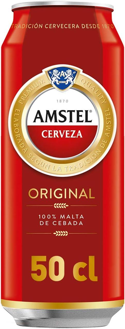 AMSTEL cerveza rubia nacional lata 50 cl