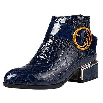 Logobeing Botas Mujer Invierno Botas de Mujer Casual Antideslizantes Zapatos Mujer Botines Mujer Tacon Cremallera Tacones Altos Altas Botas Zapatos de ...