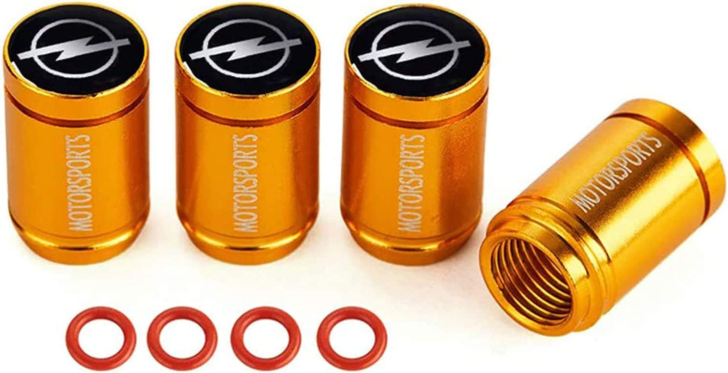4 Piezas Tapas v/álvulas de neum/áticos para Opel Opc H G J Corsa Insignia Astra Antara,Logotipo del coche Neum/ático de Coche Aluminio Tapones Antirrobo Prevenci/ón de Fugas de Aire Decoraci/ón Accesorio