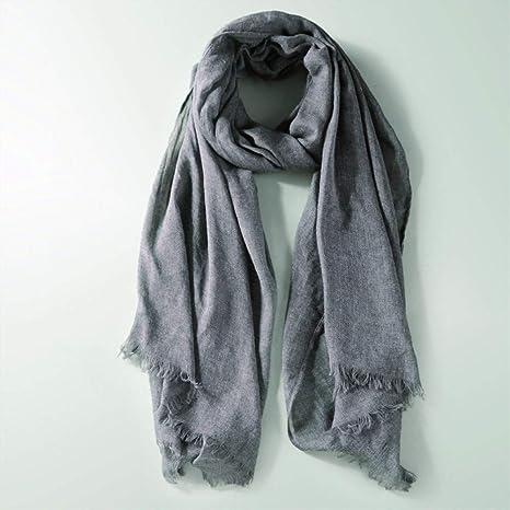 WENNUAN Bufanda Otoño Invierno Mezcla de algodón Textura súper ...