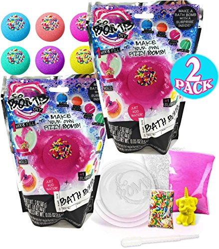 So Bomb Make Your Own (DIY) Fizzy Bath Bomb Mystery Packs with Surprise Inside - 2 Pack