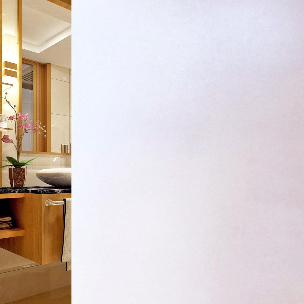 DUOFIRE Vinilo para Ventana de Privacidad Vinilo de Ventana Esmerilada Decorativa del Película de Ventana Autoadhesiva