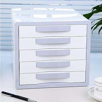 Archivadores Escritorio Papelería de plástico pequeña Caja de Almacenamiento Oficina cajón Xuan - Worth Having: Amazon.es: Hogar