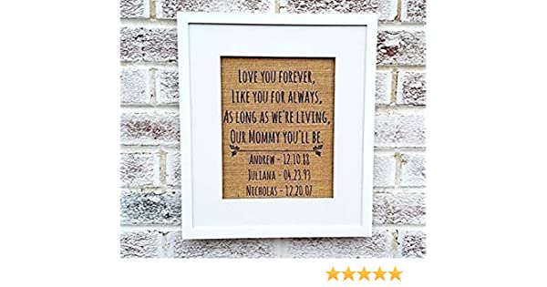 Amazon.com: Love you forever sign, mothers day gifts from daughter ...