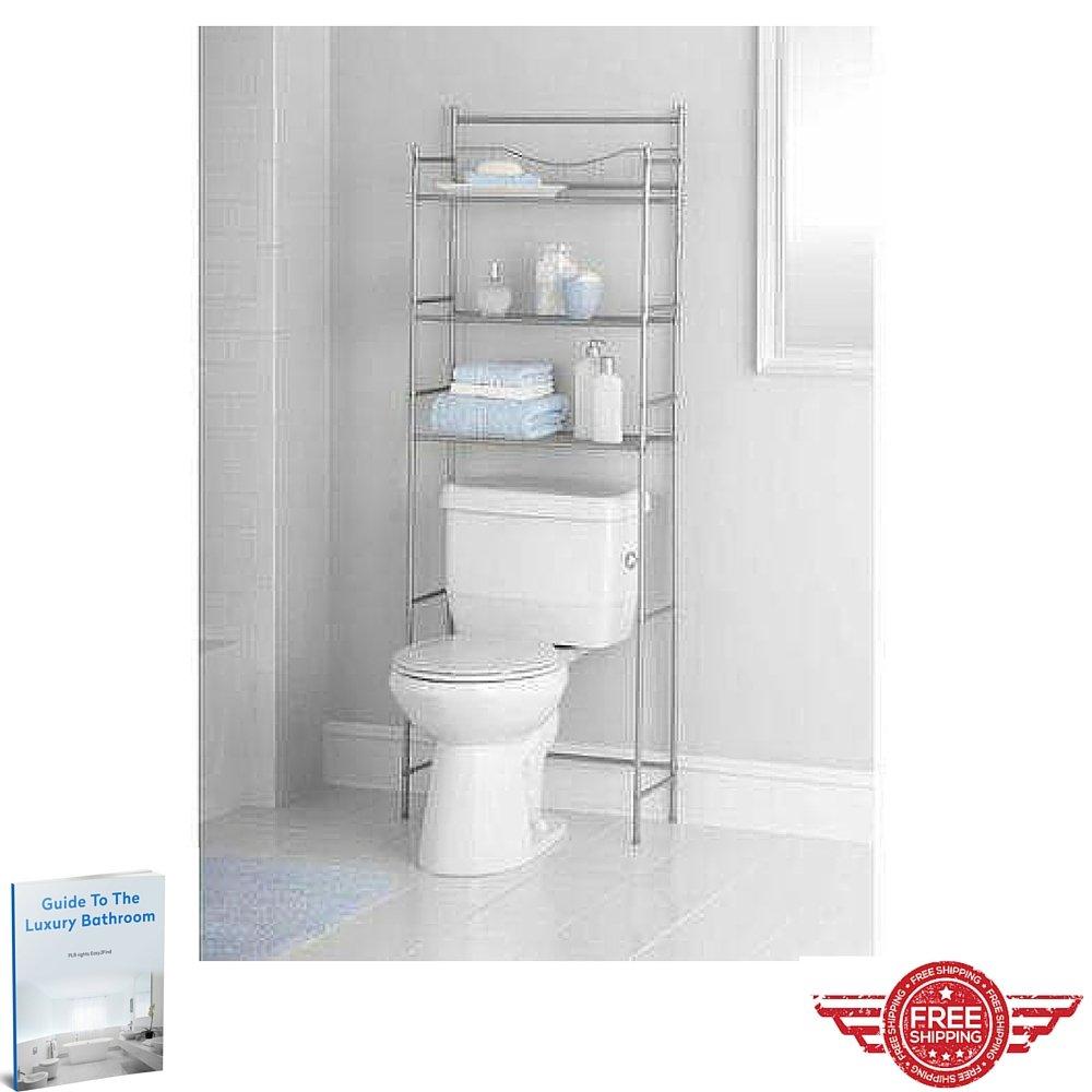 Ergonomic Storage Toilet Shelves,Metal Design Practical Storage Wall Furniture,Home Indoor Bathroom Organizer Kit & eBook by Easy2Find by GT