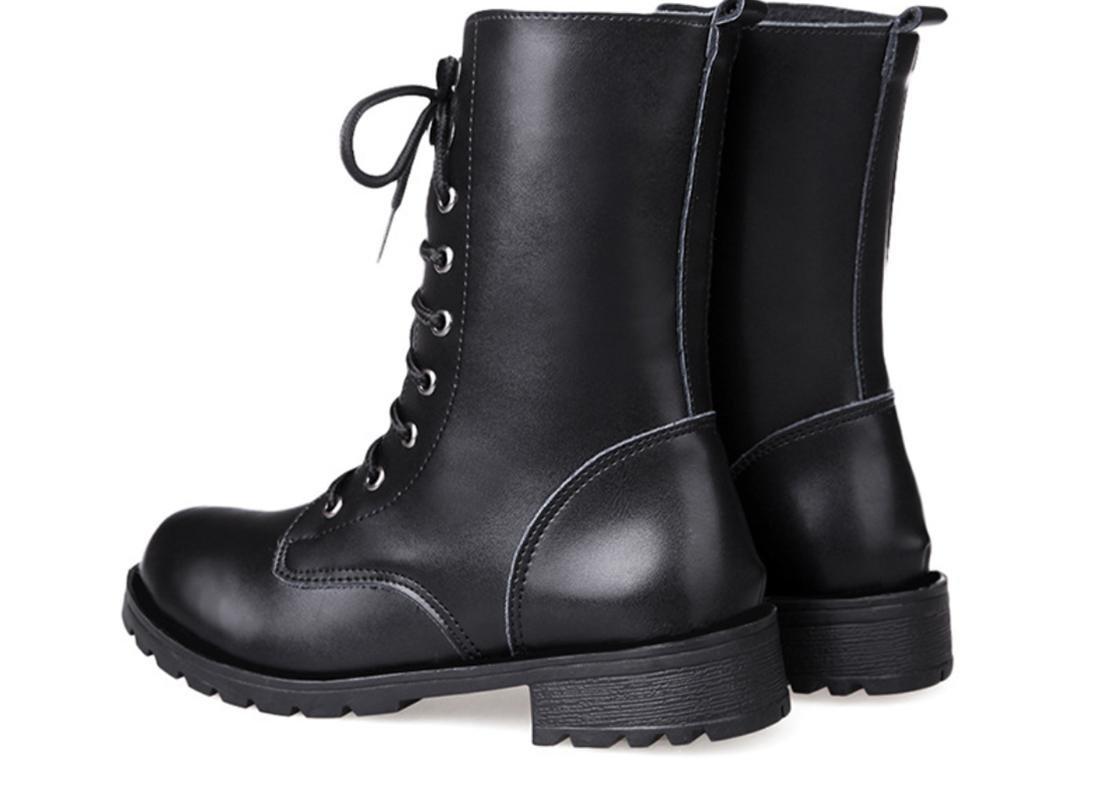XDGG Damenschuhe Einzelne Stiefel Martin Stiefel Künstliche PU PU PU Casual Und Bequem , 36 0fa4ab
