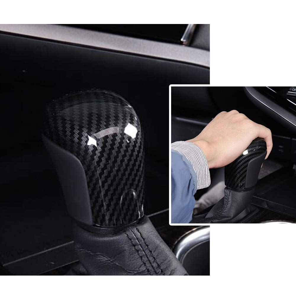 PROMOTOR Automotive Gear Shift Knob Cover ABS Carbon Fiber Style Trim for Toyota Camry 2018 18
