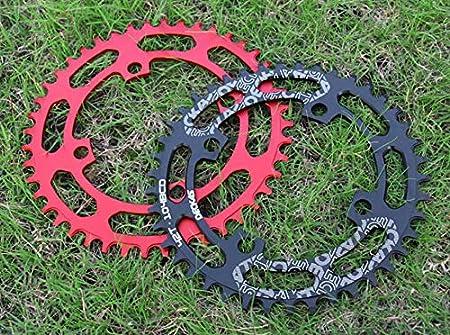 DUABOBAO Cha/îne De Bicyclette Ronde VTT Placage /À Cha/îne Ovale Bicyclette Dent /Étroite Large /À Dent Positive N/égative Grand Plateau 40 42 44 46 48 50 52T