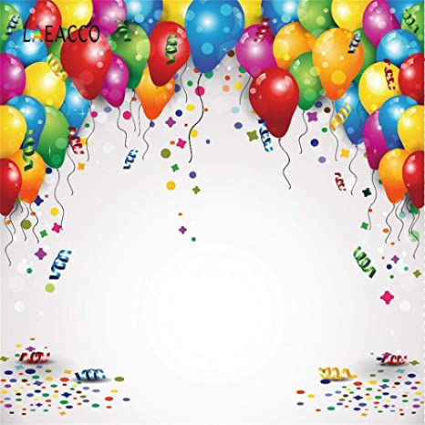 Amazon.com: Birthday Poster Birthday Balloon Backdrops for ...