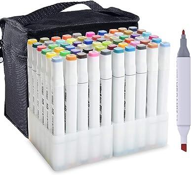 60 Color Markers Pen Art Sketch Paint