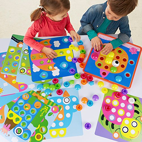 NextX Art Toy Color Matching Mosaic Pegboard Puzzle Games Early Learning Educational Toys