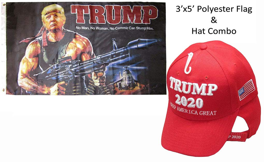 5a0c5abfe4442 Amazon.com   Wholesale Flag Hat Set 3x5 Trump Bazooka No Man