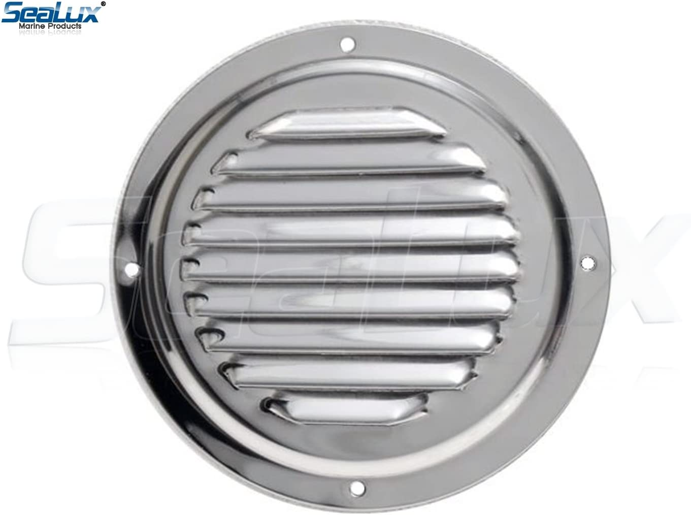 SeaLux Stainless Steel 4 Inch Marine Boat Engine Louvered Style Vent Cover