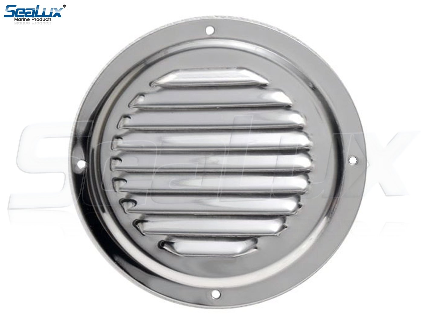 SeaLux Stainless Steel 5 Inch Marine Boat Engine Louvered Style Vent Cover