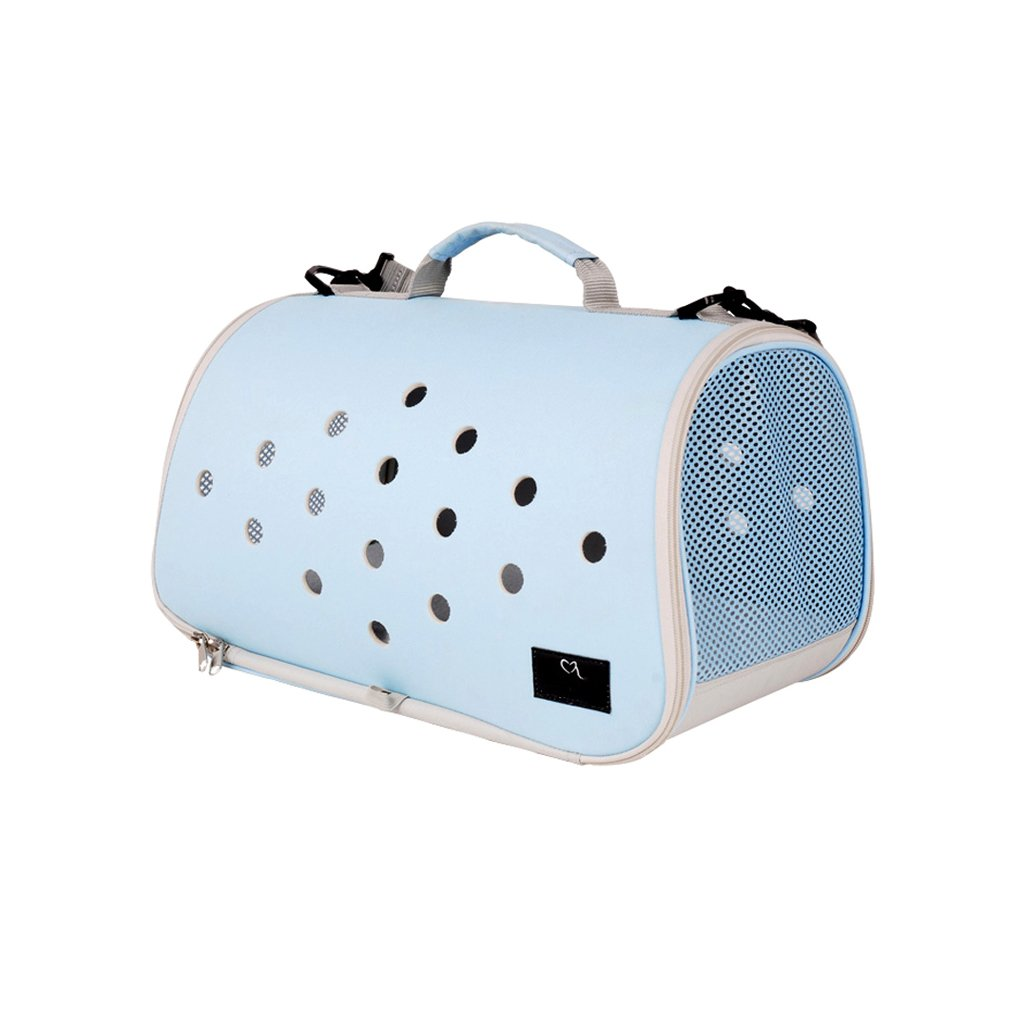 Pet Bag bluee Pet Backpack Foldable Shoulder Bag Handbag Pet Sling Carrier Hands-Free Soft Comfortable Portable Breathable Window Backbag for Traveling Pet Travel Bag