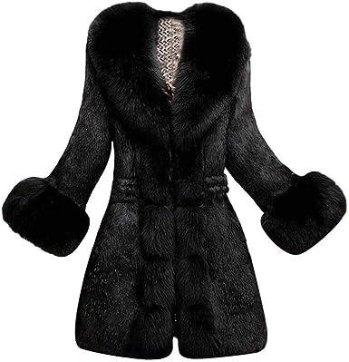 Women Thicken Luxury Fur Coat Parka Outwear Warm Winter Chic Trench Jacket
