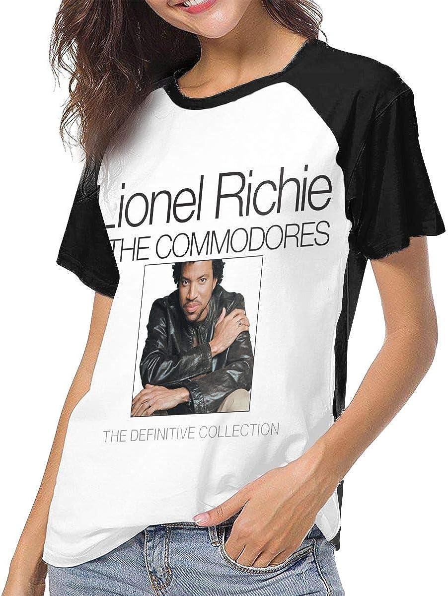 YourYarm Lionel Richie Womens Short Sleeve T-Shirt Baseball Tees