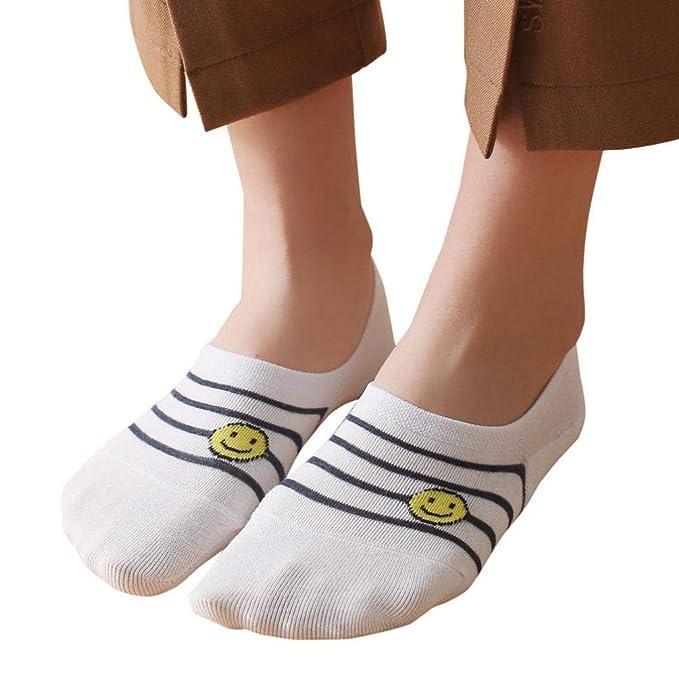 Foruu - 1 par de calcetines de algodón para mujer, cómodos ...