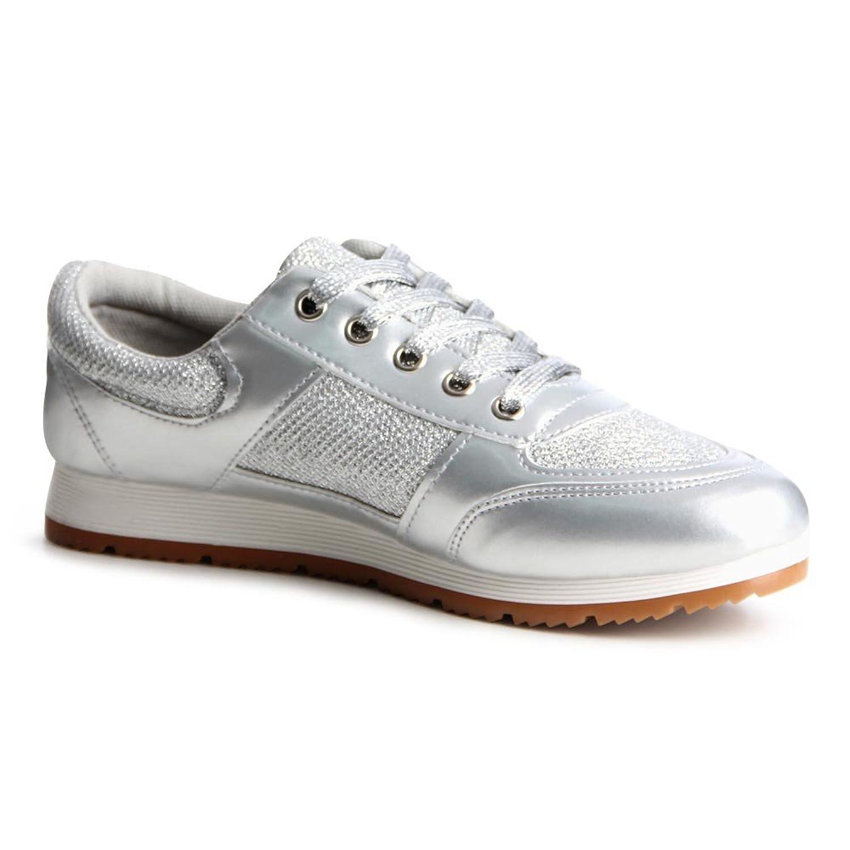 topschuhe24 - Zapatillas para mujer, color gris, talla 38