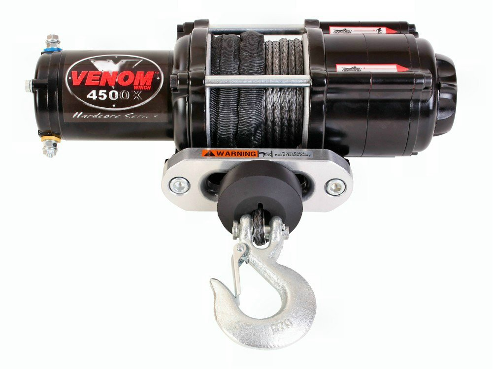 Amazon.com: VENOM Winch 4500LB UTV Winch With Model Specifc ... on para ordnance p14 diagram, venom winch review, venom 5000 lbs wiring-diagram, voyager xp wiring diagram, venom winch cable, 2011 ranger wiring diagram, venom winch remote control, polaris ranger wiring diagram, heavy duty reversing contactor wiring diagram, 9617 carling switch wiring diagram, tusk wiring diagram,