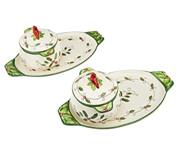 Temp-tations Soup u0026 Sandwich Set - Cardinal u0026 Holly  sc 1 st  Amazon.com & Amazon.com | Temp-tations Soup u0026 Sandwich Set - Cardinal u0026 Holly ...