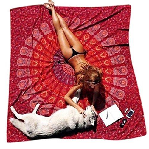 Ouneed 148cmX210cm Ronda de playa piscina de ducha toalla manta mantel Yoga Mat