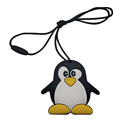 INCHANT Chewable Penguin Silicone Teething Pendant Toy - BPA & Phthalates Free, FDA Compliant Soft Nursing Necklace for Baby and Toddler, Gum Massager Teether Necklace : Baby