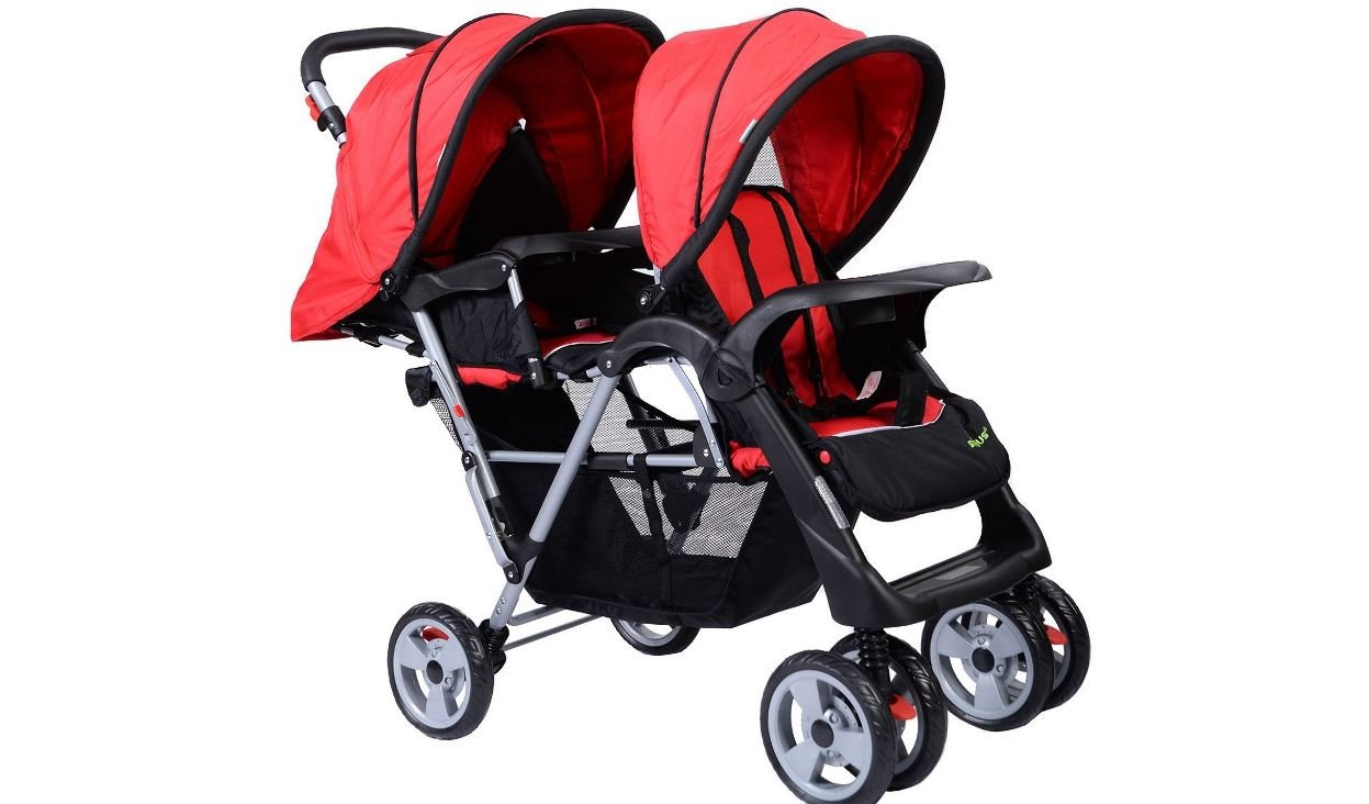 Foldable Twin Baby Double Stroller 3 Color K&A Company