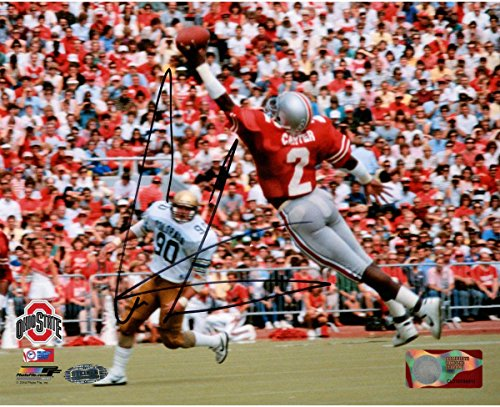 Cris Carter Signed One Handed Catch 8x10 Photo (Getty#109827359) (Cris Photograph Carter)