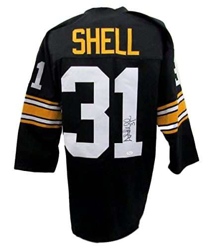 3df1ea1d4 Donnie Shell Pittsburgh Steelers Autographed Signed Jersey Black JSA  Authentic 136466 at Amazon s Sports Collectibles Store