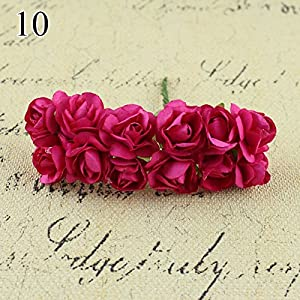 FYYDNZA 144Pcs 2Cm Mini Foam Rose Artificial Bouquet Multicolor Rose Wedding Flower Decor Fake Rose Flower 112