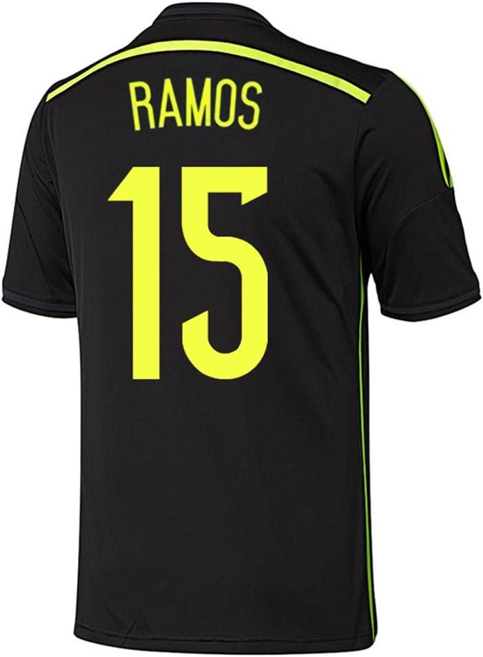adidas Sergio Ramos #15 España Camiseta 2da Copa Mundial 2014 (L): Amazon.es: Deportes y aire libre
