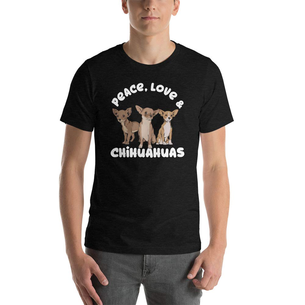 Peace Love Chihuahuas Short-Sleeve Unisex T-Shirt