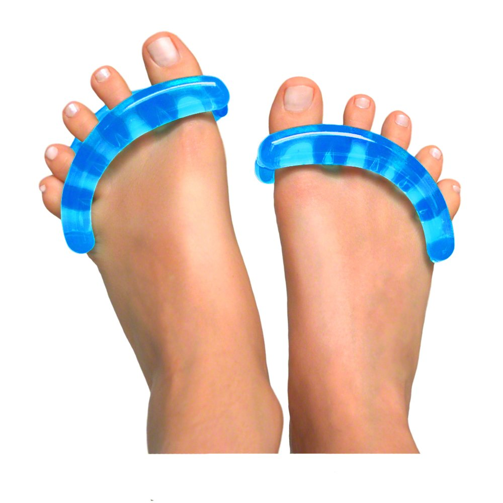 Original YogaToes - Small Sapphire Blue: Toe Stretcher & Separator. Fight Bunions, Hammer Toes, Foot Pain & More! Yoga Toes