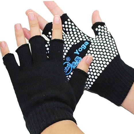 covermason Yoga deportes guantes Semi dedo antideslizante ...