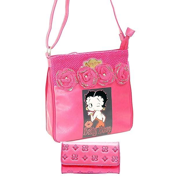 Amazon.com: Betty Boop - Bolso bandolera con purpurina de ...