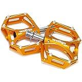 wellgo(ウェルゴ) M194 CNCアルミフラットペダル ゴールド 125-00023