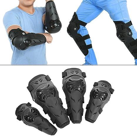 BSDDP BSD1002 4Pcs Adultos Codo Rodilleras para hombres o mujeres Motocross Motocicleta Ciclismo Rodilleras Codo Protector Protector Equipo de protecci/ón