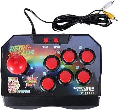 Amazon.es: XZANTE Palanca de Mando de Juego de Arcade Retro Controlador de Juego Enchfue AV Consola de Mando de Videojuegos con 145 Juegos para TV Edición Clásica Mini TV Consola de Juego
