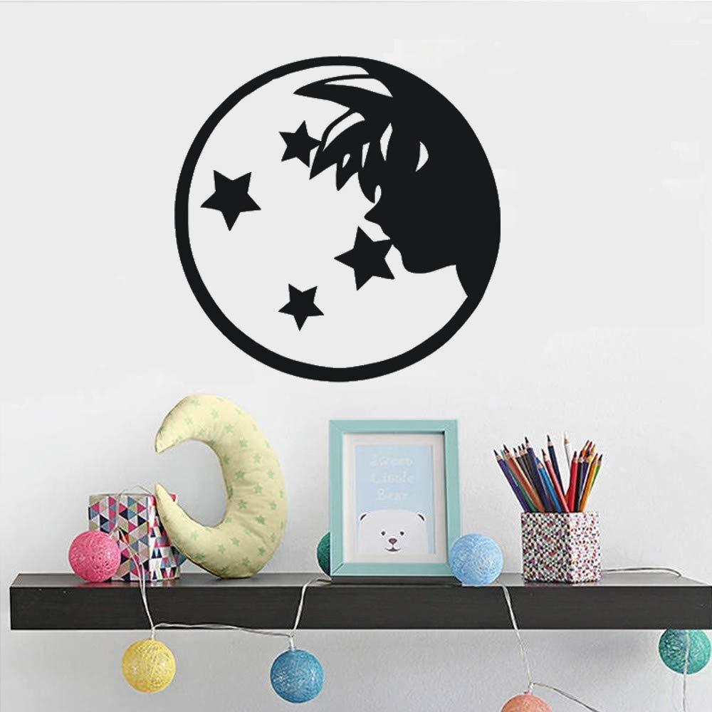 SAKHD Cartoon Vinyl Wall Decal Dragon Ball Z Wall Art Boys Room Decoration Goku with Four Stars Wall Sticker Anime Props Poters 60X85CM