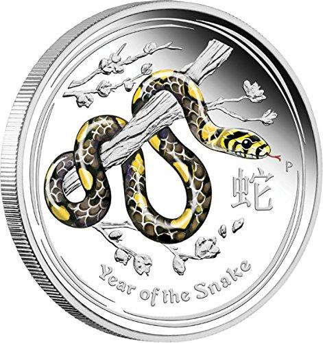 2013 AU Lunar Series 2 Kilo PowerCoin SNAKE Lunar Year Series 1 Kg Kilo Coloured Silver Proof Coin 30$ Australia 2013 Proof