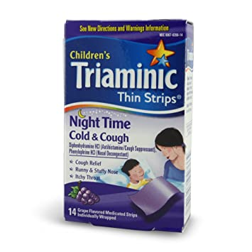Amazoncom Triaminic Childrens Thin Strips Cold Cough Night