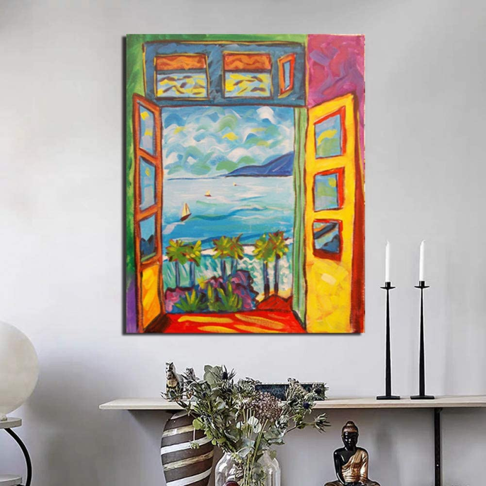 GUDOJK Pintura de la Lona Lienzo Arte de la Pared Impresións Cartel Decoración para el hogar Pintura Famoso Pintor Paisaje Moderno para el dormitorio-70x100cm