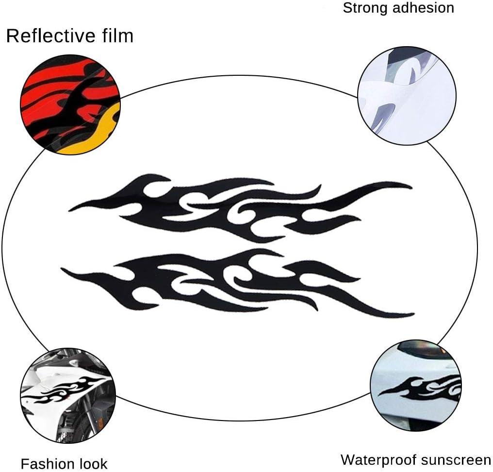 Zerkosvort 2pcs stikers de Voiture Forme de Flamme Autocollants pour Voiture d/écalcomanies Avant de v/éhicule