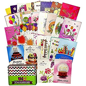 Amazon paper magic all occasion handmade greeting card greeting cards assortment for all occasions 30 pack box set handpicked greeting card assorted blank cards with envelopes 5x7 sympathy thank you m4hsunfo
