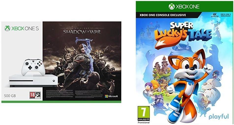 Xbox One S - Consola 500 GB + Sombras De Guerra + Game Pass (1M) + Super Luckys Tale: Amazon.es: Videojuegos