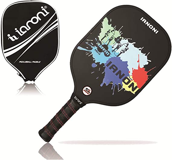 ianoni Pickleball Paddle Pickleball Racket Graphite with Composite Face & Polymer Honeycomb Core Lightweight Premium Grip Pickle Ball Paddles Racquet ...