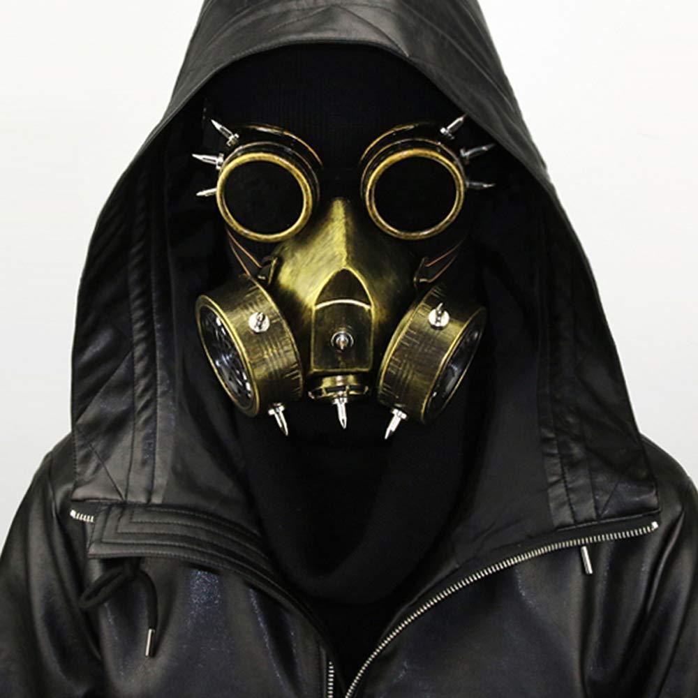 GY Halloween-Maske, Steampunk-Maske, Top-Craft, Maske-Party Essential, Halloween-Cosplay-Neuheit Maske, Kupfer Grün, Universelle Größe