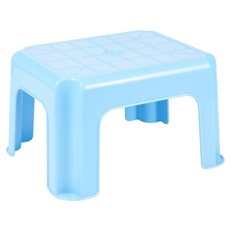 Unbekannt Mehrzweck Tritthocker Robust Stapelbar Plastik - Blau EGT